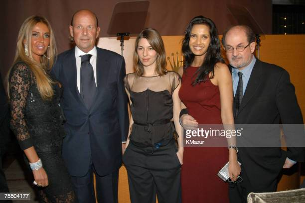 Nina Stevens Patrick Heiniger CEO of Rolex SA Sofia Coppola Padma Lashki and Salman Rushdie