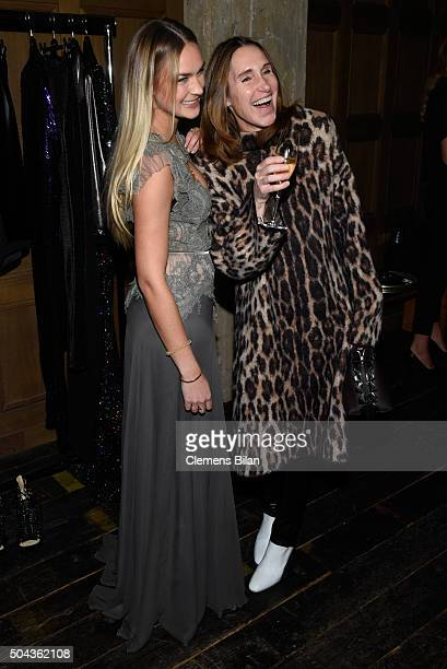 Nina Suess and Annette Weber attend E Red Carpet Influencer Suite promoting Live from the Red Carpet on german E Entertainment at Soho House on...