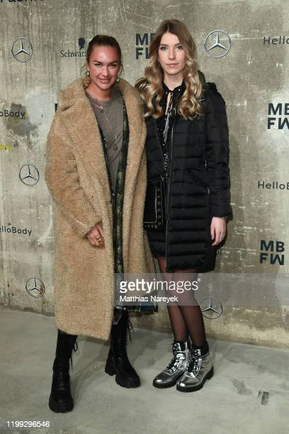 Nina Suess and Jana Mackenstein attend the MercedesBenz presents Fashion Talents from South Africa show during Berlin Fashion Week Autumn/Winter 2020...