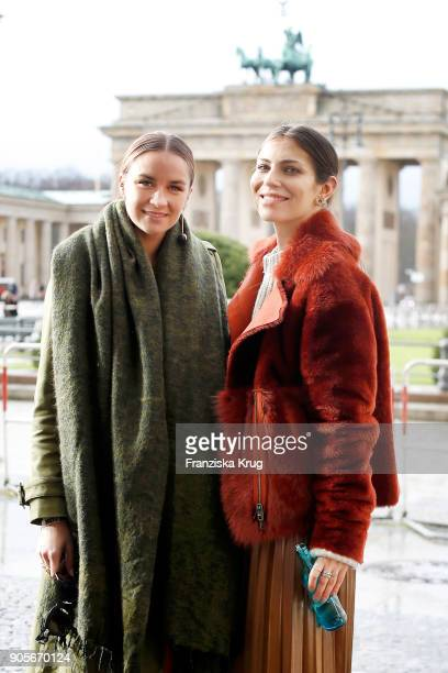 Nina Suess and Masha Sedgwick during the Strenesse presentation during 'Der Berliner Salon' AW 18/19 at The Gate on January 16 2018 in Berlin Germany
