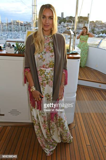 Nina Suess attends the Lark and Berry launch party on a private yacht during the 71st Cannes Film Festival on May 16 2018 in Cannes France