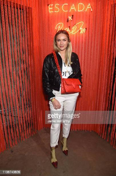 Nina Suess attends the launch of the ESCADA Heartbag by Rita Ora on March 27 2019 in New York City