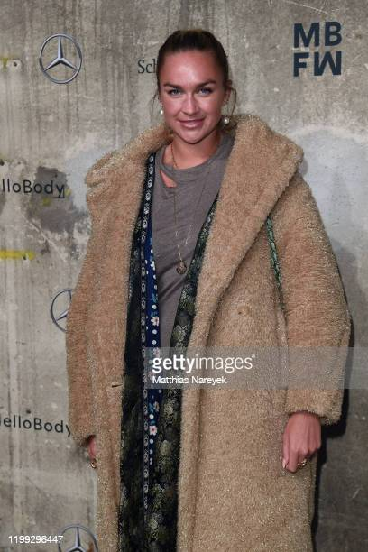 Nina Suess attends the MercedesBenz presents Fashion Talents from South Africa show during Berlin Fashion Week Autumn/Winter 2020 at Kraftwerk Mitte...