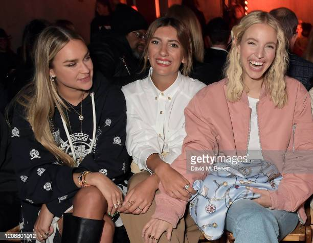 Nina Suess Aylin Koenig and Leonie Hanne attend the TOMMYNOW London Spring 2020 at Tate Modern on February 16 2020 in London England