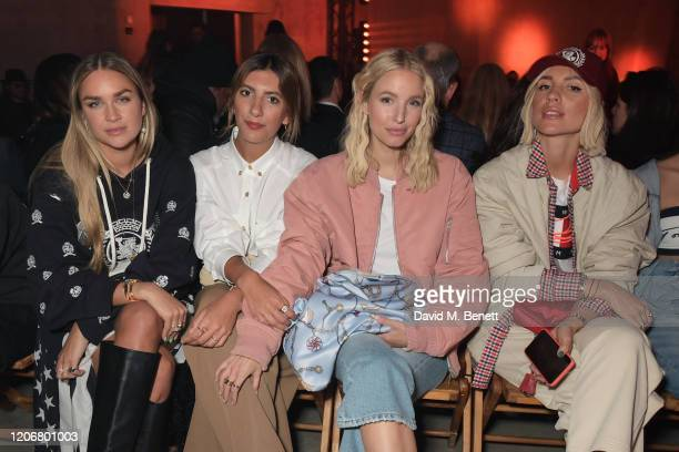 Nina Suess Aylin Koenig Leonie Hanne and Viktoria Rader attend the TOMMYNOW London Spring 2020 at Tate Modern on February 16 2020 in London England