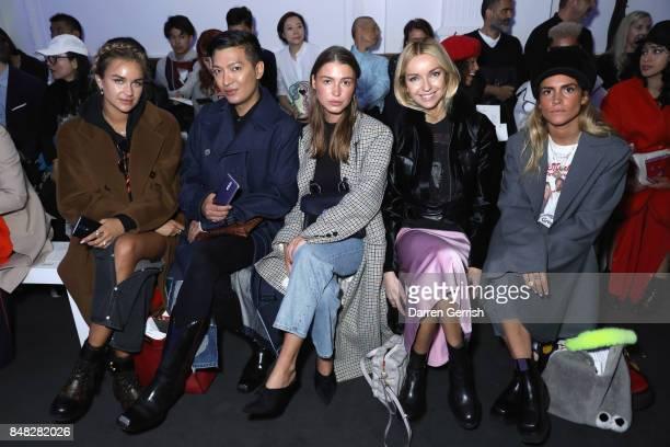 Nina Suess Bryanboy Sophia Roe Hege Aurelie Badendyck and Blanca Miro attend the Anya Hindmarch show during London Fashion Week September 2017 on...