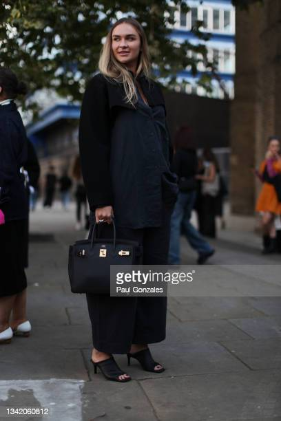 Nina Suess is seen at COS during London Fashion Week September 2021 on September 21, 2021 in London, England.