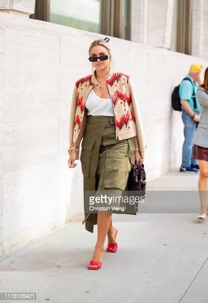 Nina Suess is seen outside Longchamp during New York Fashion Week September 2019 on September 07, 2019 in New York City.
