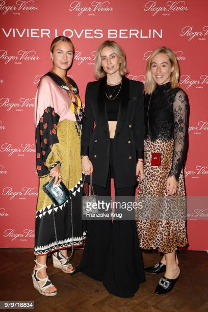 Nina Suess Lisa Hahnbueck and Sonia Lyson attend the 'Roger Vivier Loves Berlin' event at Soho House on June 20 2018 in Berlin Germany