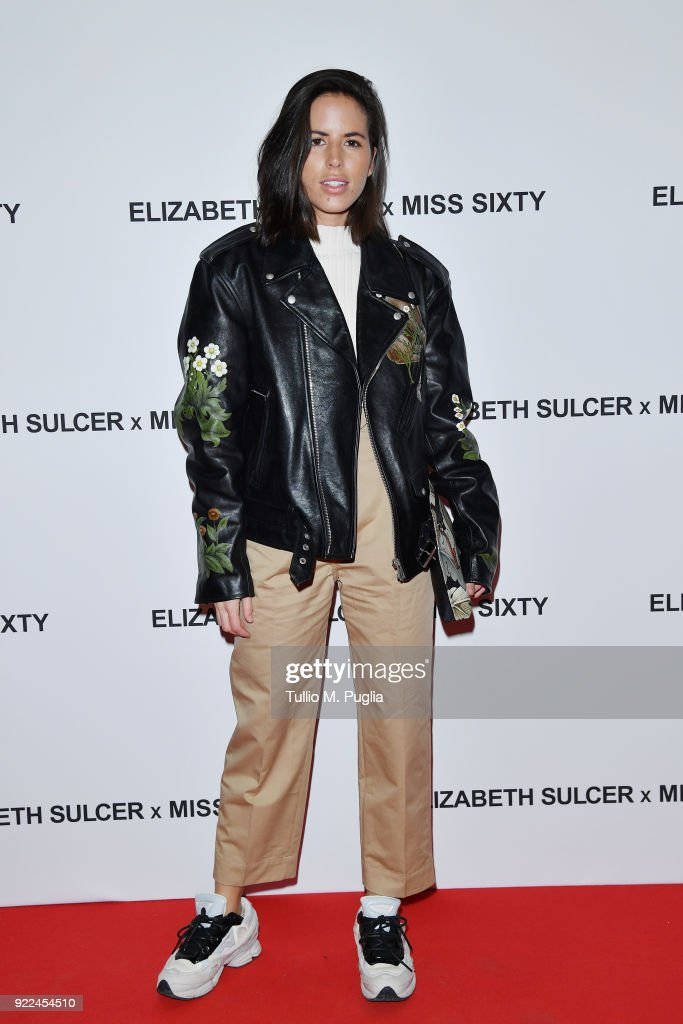 Nina Urgell attends ELIZABETH SULCER X MISS SIXTY on February 21, 2018 in Milan, Italy.