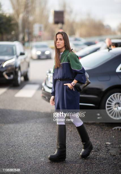 Nina Urgell Cloquell is seen outside Lacoste during Paris Fashion Week Womenswear Fall/Winter 2019/2020 on March 05 2019 in Paris France