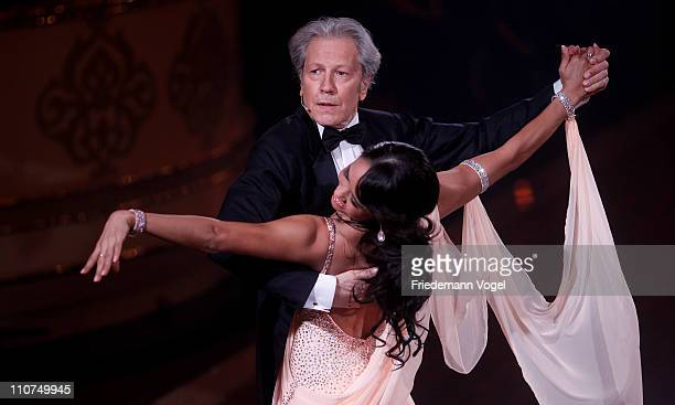 Nina Uszkureit and Bernd Herzsprung perform during the 'Let's Dance' TV show at Coloneum on March 23 2011 in Cologne Germany