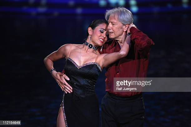 Nina Uszkureit and Bernd Herzsprung perform during the 'Let's Dance' TV show at Coloneum on April 13 2011 in Cologne Germany