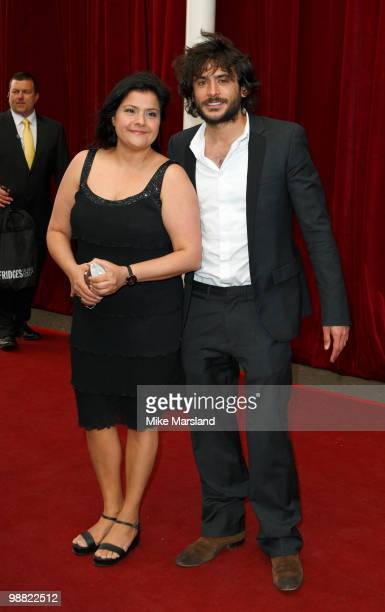 Nina Wadia and Marc Elliott attend 'An Audience With Michael Buble' at The London Studios on May 3, 2010 in London, England.