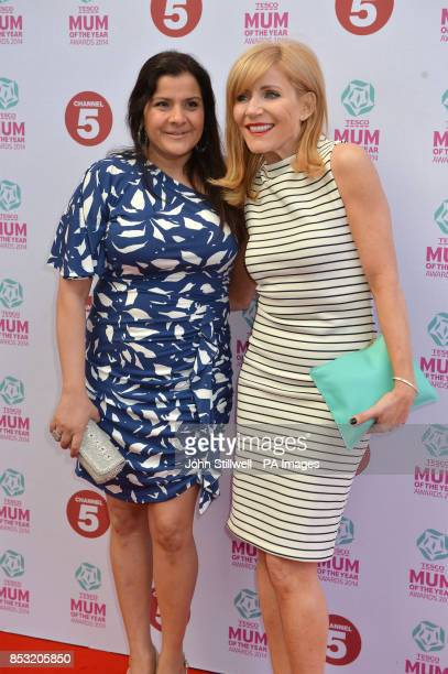 Nina Wadia and Michelle Collins arriving at the Tesco Mum of the Year Awards celebrating Britain's most inspirational mothers at The Savoy Hotel...