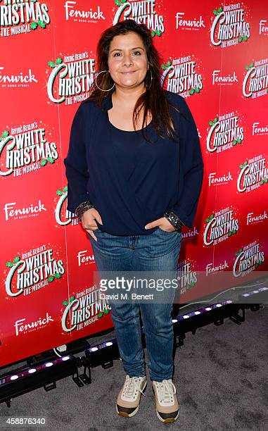 Nina Wadia arrives at the White Christmas press night after party at The Bloomsbury Ballroom on November 12 2014 in London England