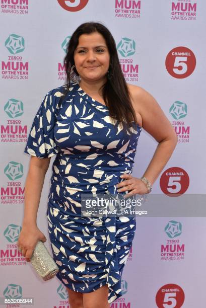 Nina Wadia arriving at the Tesco Mum of the Year Awards celebrating Britain's most inspirational mothers at The Savoy Hotel Strand in central London