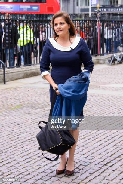 Nina Wadia attends a memorial service for comedian Ronnie Corbett at Westminster Abbey on June 7 2017 in London England Corbett died in March 2016 at...
