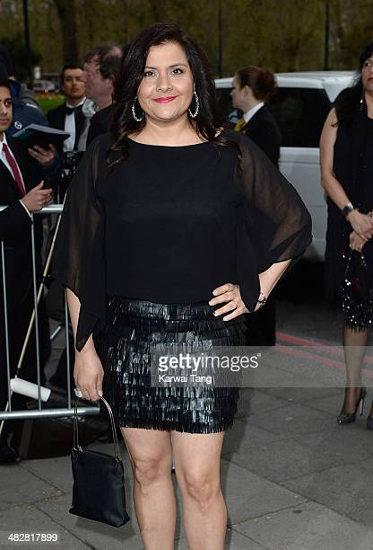 Nina Wadia attends The Asian Awards held at The Grosvenor House Hotel on April 4 2014 in London England