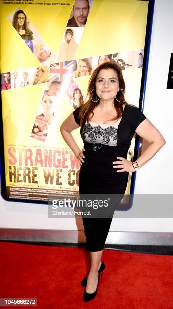 Nina Wadia attends the premiere of Strangeways Here We Come at Vue Printworks on October 4 2018 in Manchester England