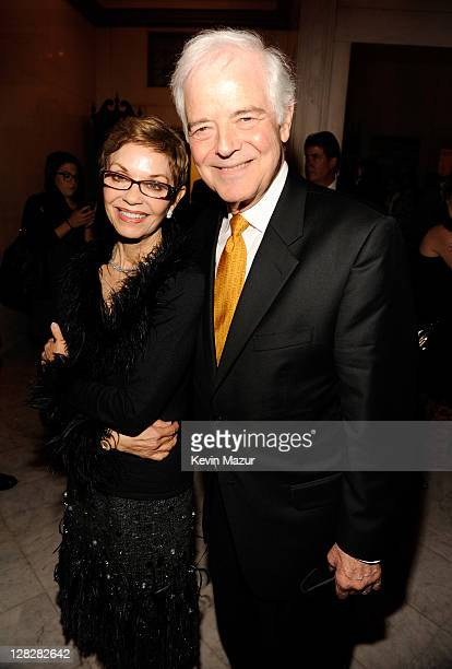 Nina Warren and Nick Clooney attend the The Ides of March premiere after party at The Metropolitan Club on October 5 2011 in New York City
