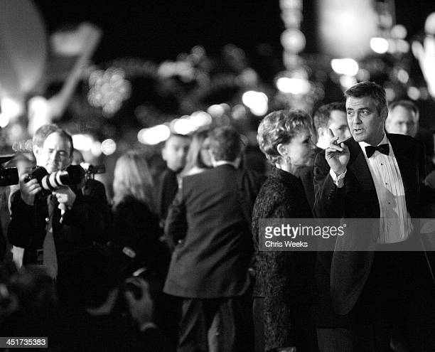 Nina Warren Clooney and George Clooney during Ocean's Twelve Los Angeles Premiere Black White Photography by Chris Weeks at Grauman's Chinese Theater...
