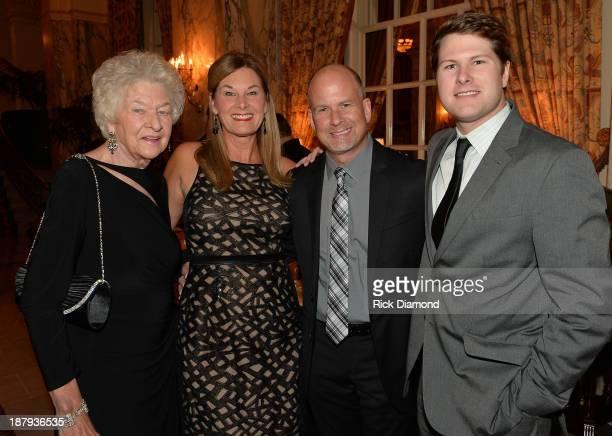 Nina Warren Suzan Neal Honoree Kevin Neal Agent BLA and Austin Warren attend the 3rd annual NATD Honors 2013 at the Hermitage Hotel on November 12...