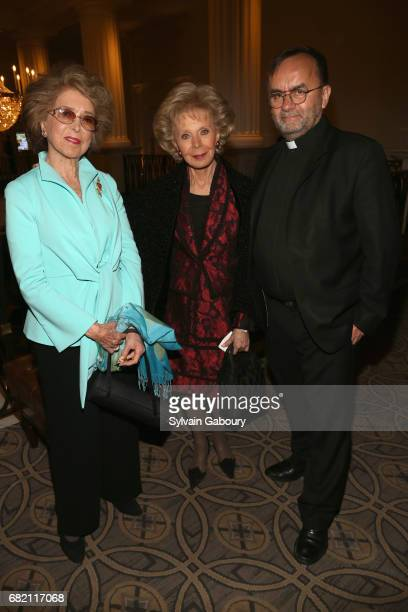 Nina Weiner Lily Safra and Patrick Desbois attend Mrs Lily Safra Honored at ISEF Foundation's 40th Anniversary at Intercontinental New York Barclay...