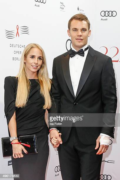 Nina Weiss and Manuel Neuer attend the 22nd Opera Gala at Deutsche Oper Berlin on November 7 2015 in Berlin Germany