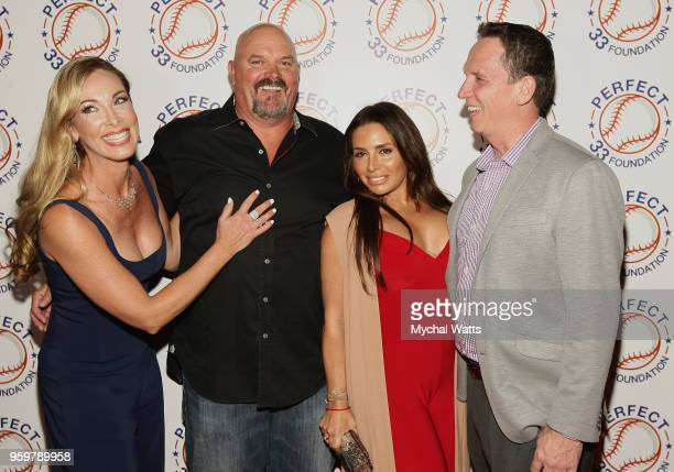 Nina Wells David Wells Lynn DiGioia David Cone and Ramero Rivera attend the Perfect Game 20th Anniversary Celebration at Sony Hall on May 17 2018 in...