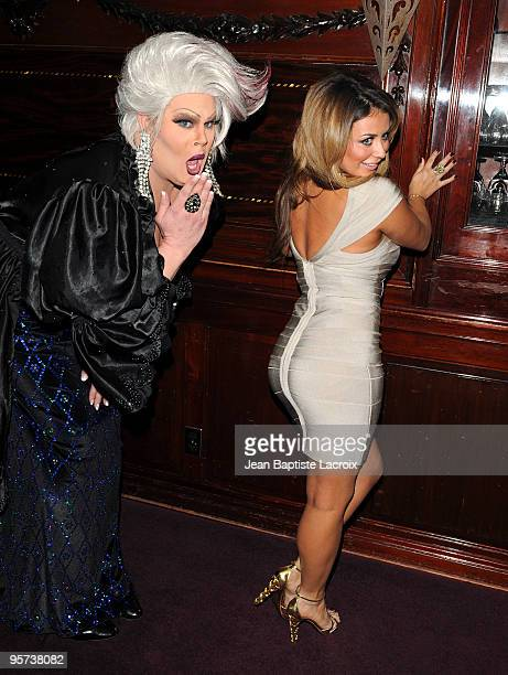 Nina West and Aubrey O'Day attend the Heel Hate One Stiletto At A Time To Benefit Matthew Shepard Foundation at House of Blues Sunset Strip on...
