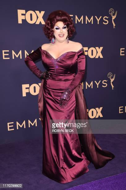 Nina West arrives for the 71st Emmy Awards at the Microsoft Theatre in Los Angeles on September 22 2019
