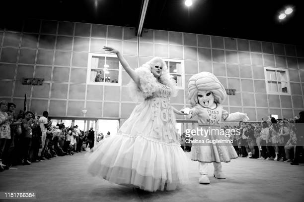 Nina West attends RuPaul's DragCon LA 2019 at Los Angeles Convention Center on May 25 2019 in Los Angeles California