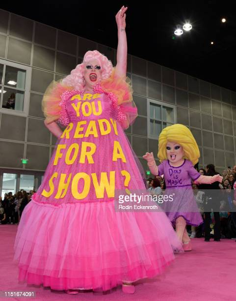 Nina West walks the pink carpet at RuPaul's DragCon LA 2019 at Los Angeles Convention Center on May 25 2019 in Los Angeles California