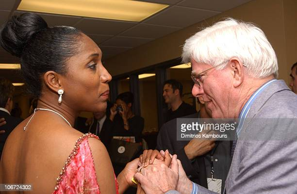 Nina whitaker and Phil Donahue during St Jude Children's Research Hospital Shower of Stars 40th Anniversary Backstage and Show at Cannon Center in...