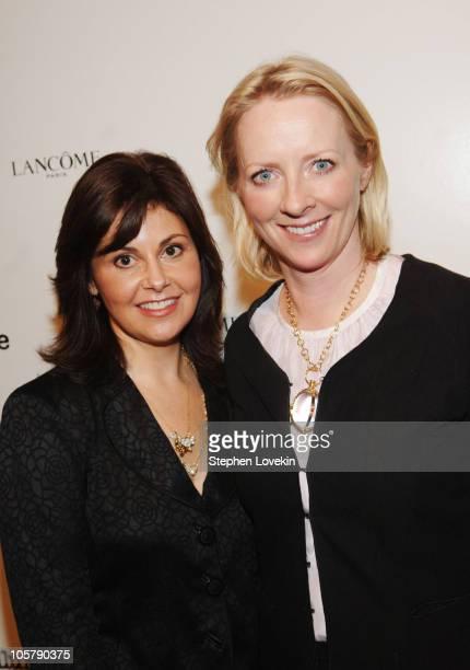 Nina White, Senior VP of marketing for Lancome, and Linda Wells, Allure Magazine Editor-in-Chief