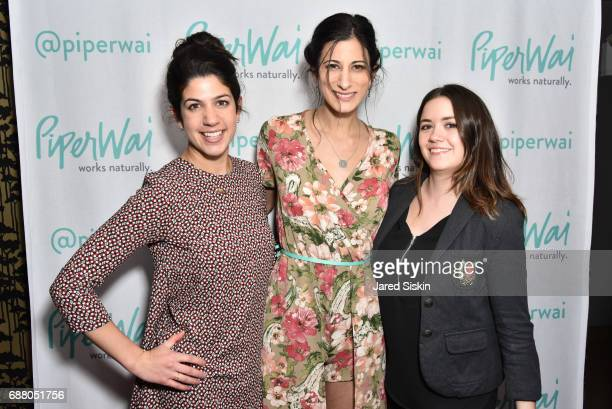 Nina Williams Jess Edelstein and Grace Eubank attend PiperWai NYC Launch Event at Vnyl on May 24 2017 in New York City