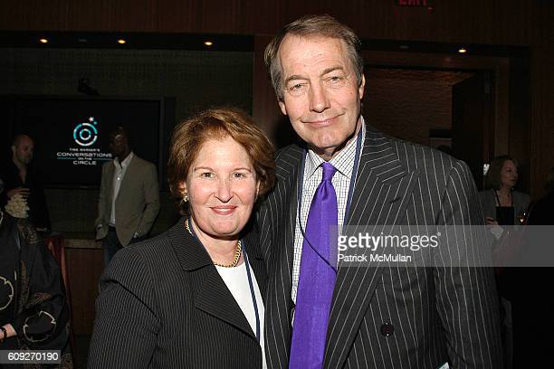 Nina Zagat and Charlie Rose attend CONVERSATIONS ON THE CIRCLE With Senator Barack Obama And Dick Parsons at Time Warner Headquarters on July 24 2007...
