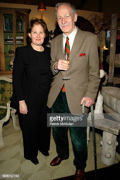 Nina Zagat and Jacques deAubert attend The NEW YORK BOTANICAL GARDEN 15th Annual Antique Garden Furniture Show Collectors' Plant Sale at New York...