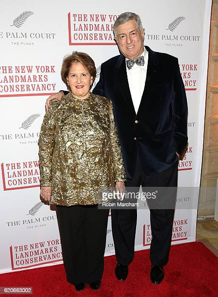 Nina Zagat and Tim Zagat attend 2016 Living Landmarks Celebration at The Plaza Hotel on November 2 2016 in New York City