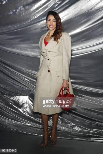 Nina Zilli attends Moncler Genius during Milan Fashion Week on February 20 2018 in Milan Italy
