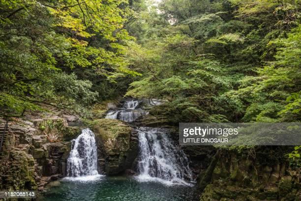 ninai-daki, akame 48 waterfalls - agua descendente fotografías e imágenes de stock