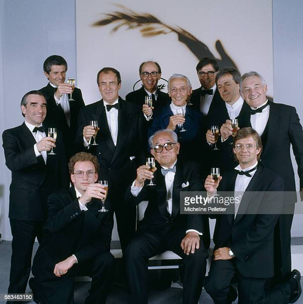 Nine directors from across the world all winners of a Palme d'Or at the Cannes Film Festival break open a bottle of champagne to toast this year's...