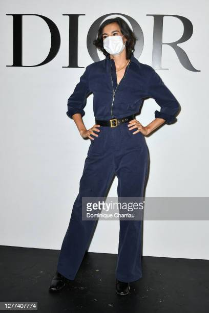 Nine d'Urso attends the Dior Womenswear Spring/Summer 2021 show as part of Paris Fashion Week on September 29, 2020 in Paris, France.