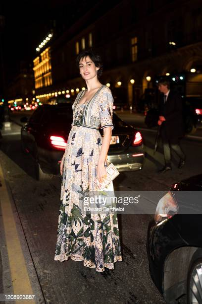 Nine d'Urso attends the Harper's Bazaar Exhibition as part of the Paris Fashion Week Womenswear Fall/Winter 2020/2021 At Musee Des Arts Decoratifs on...
