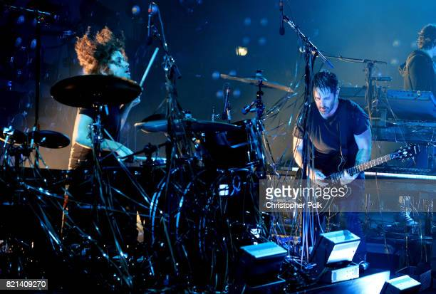 Nine Inch Nails perform onstage on day 3 of FYF Fest 2017 at Exposition Park on July 23 2017 in Los Angeles California