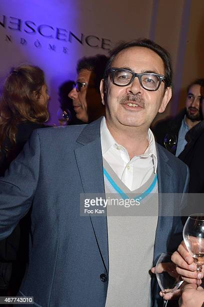 Nine Kube Galerie director Bruno Hoang attends the 'Diamond Night by Divinescence Vendome' Harumi Klossowska Jewellery Exhibition Preview As Part Of...