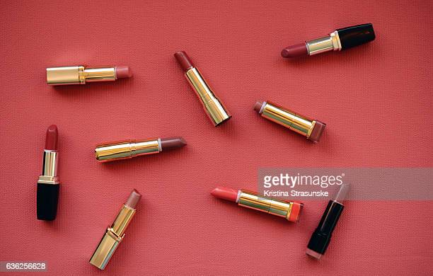 nine lipsticks - red lipstick stock pictures, royalty-free photos & images