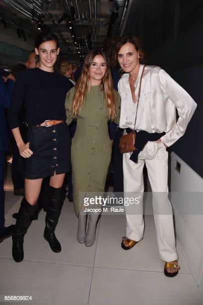 Nine Marie d'Urso Miroslava Duma and Ines de la Fressange attend Fashion Tech Lab launch event as part of Paris Fashion Week Womenswear Spring/Summer...