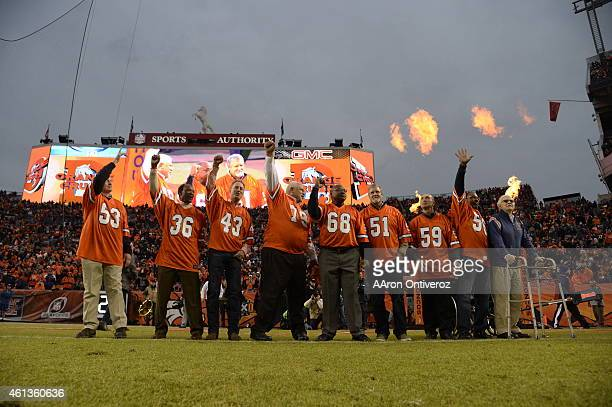 Nine members of the Orange Crush 1977 Denver defense coach Red Miller linebackers Randy Gradishar Larry Evans Joe Rizzo and Bob Swenson tackle Rubin...